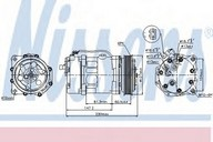 Compresor, climatizare VW LT II 28-35 (2DM) 2.5 TDI (75KW / 102CP)NISSENS 89044