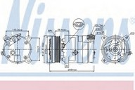 Compresor, climatizare NISSENS 89058