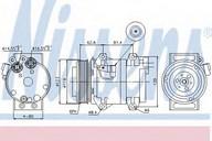 Compresor, climatizare NISSENS 89070