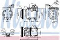 Compresor, climatizare NISSENS 89082