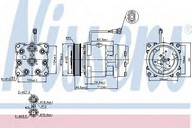 Compresor, climatizare VW LT II 28-35 (2DM) 2.5 TDI (75KW / 102CP)NISSENS 89083