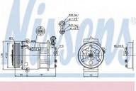 Compresor, climatizare NISSENS 89124
