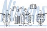 Compresor, climatizare NISSENS 89256