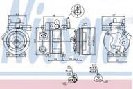 Compresor, climatizare NISSENS 89273