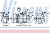 Compresor, climatizare NISSENS 89304