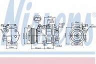 Compresor, climatizare NISSENS 89305