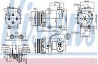 Compresor, climatizare NISSENS 89327