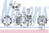Compresor, climatizare NISSENS 89336