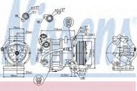 Compresor, climatizare NISSENS 89350