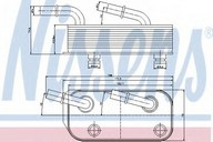 Radiator racire ulei, cutie de viteze automata NISSENS 90658