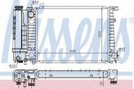 Radiator, racire motor NISSENS 60735A