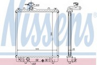 Radiator, racire motor NISSENS 63014A
