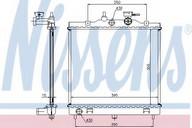 Radiator, racire motor NISSENS 66654