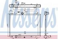Radiator, racire motor NISSENS 69400