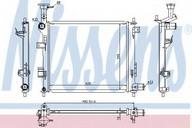 Radiator, racire motor NISSENS 66747