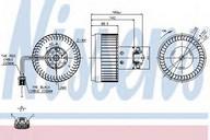Ventilator, habitaclu NISSENS 87036