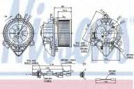 Ventilator, habitaclu NISSENS 87042