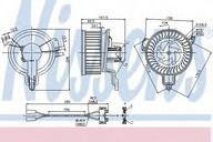 Ventilator, habitaclu NISSENS 87048