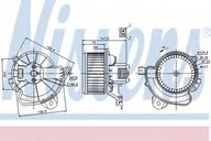 Ventilator, habitaclu NISSENS 87086