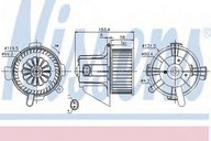 Ventilator, habitaclu NISSENS 87090