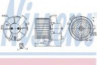 Ventilator, habitaclu NISSENS 87092