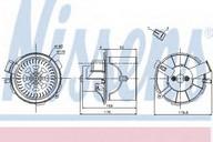 Ventilator, habitaclu NISSENS 87138