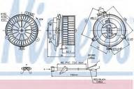 Ventilator, habitaclu NISSENS 87153