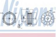 Ventilator, habitaclu NISSENS 87160