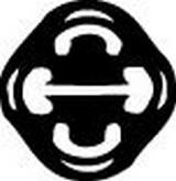 Banda cauciuc,  sistem de esapament WALKER 81252
