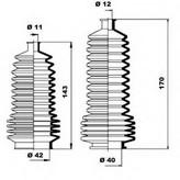 Burduf bieleta directie RENAULT Symbol  (LB0/1/2_) 1.6 16V (79KW / 107CP)MOOG K150157