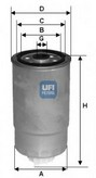 Filtru combustibil UFI 24.351.00