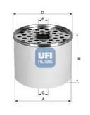 Filtru combustibil UFI 24.360.00