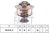 Termostat, lichid racire FACET 7.8407S