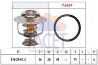 Termostat, lichid racire FACET 7.8650