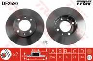 Disc frana TRW DF2580