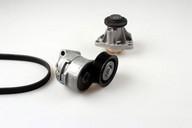 Pompa apa+set curea transmisie cu caneluri HEPU PK03200