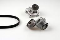 Pompa apa+set curea transmisie cu caneluri HEPU PK03262