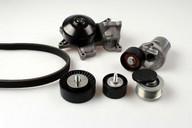 Pompa apa+set curea transmisie cu caneluri HEPU PK04212