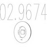 tampon cauciuc, amortizor esapament MTS 02.9674