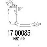 Filtru funingine/particule, sist.de esapament MTS 17.00085