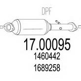 Filtru funingine/particule, sist.de esapament MTS 17.00095