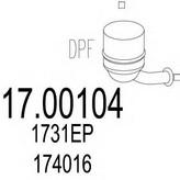 Filtru funingine/particule, sist.de esapament MTS 17.00104