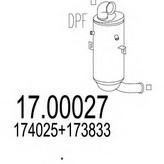 Filtru funingine/particule, sist.de esapament MTS 17.00027