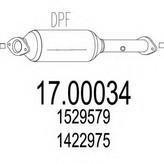 Filtru funingine/particule, sist.de esapament MTS 17.00034