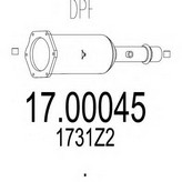 Filtru funingine/particule, sist.de esapament MTS 17.00045