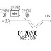 Racord evacuare MTS 01.20700