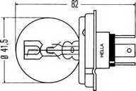 Bec, far principal HELLA 8GD 002 088-251