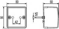Iluminare interior portbagaj HELLA 2JB 996 012-121