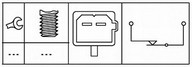 Comutator, actionare ambreiaj(comanda motor) HELLA 6DD 179 465-101