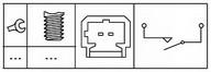 Comutator, actionare ambreiaj(comanda motor) HELLA 6DD 179 465-181